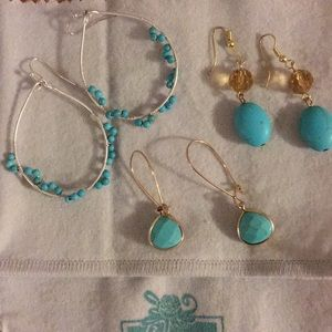 Turquoise earrings, from Handpicked.